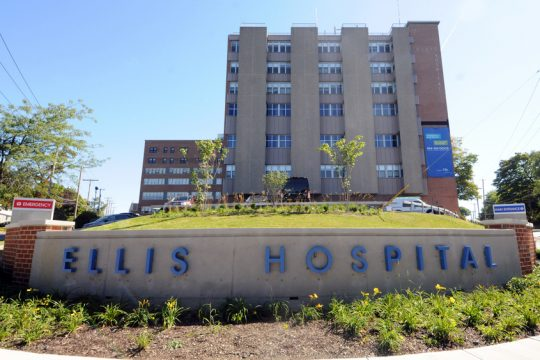 A file image of Ellis Hospital in Schenectady.