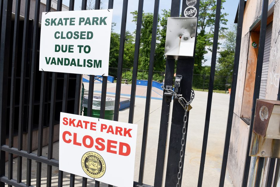 The Town of Clifton Park buildings and parks have shut down the Skate Park due to over-use and damage including graffiti.