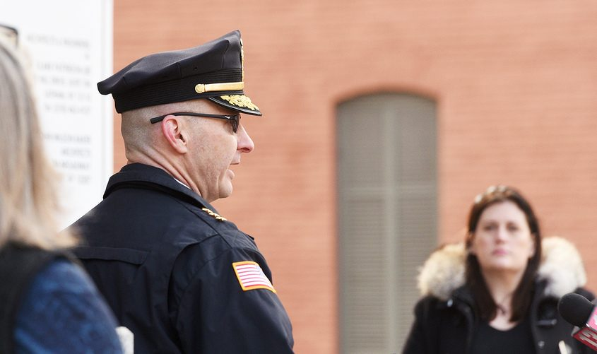 Saratoga Springs Police Department Chief Shane Crooks in March