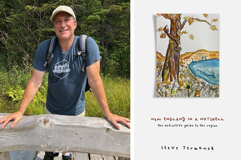 Steve Jermanok and the cover of his new book.