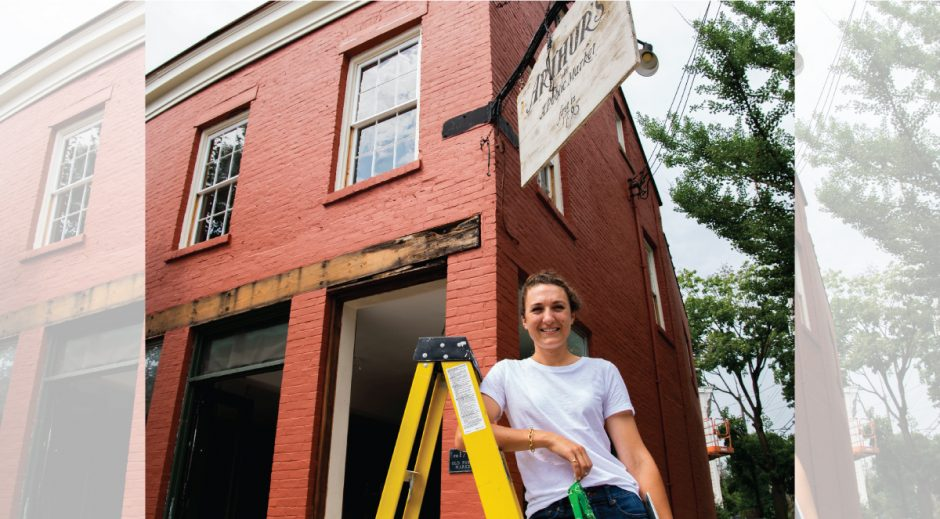 Haley Priebe stands in front of Arthur's Market she is rennovating in The Stockade Wednesday, July 8, 2020.