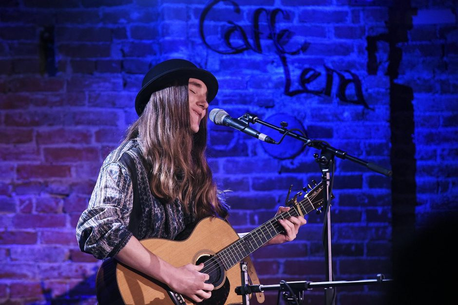 Sawyer Fredericks performs in 2017 at Caffe Lena in Saratoga Springs.