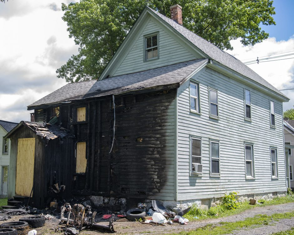 213 Meadow Street in Johnstown was the scene of a fire that left 11 people homeless Saturday, July 11, 2020.