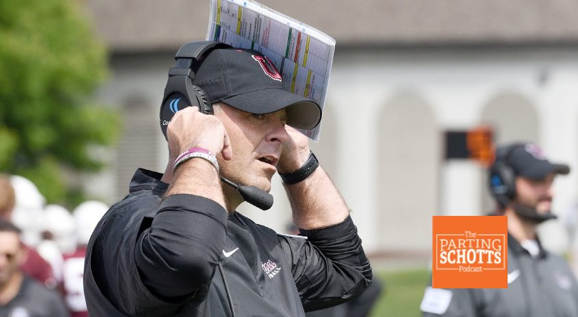 Union College football coach Jeff Behrman looks on during a Sept. 7 game against Westfield College.