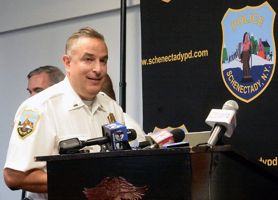 Schenectady Police Department Lt. Ryan Macherone in 2019.