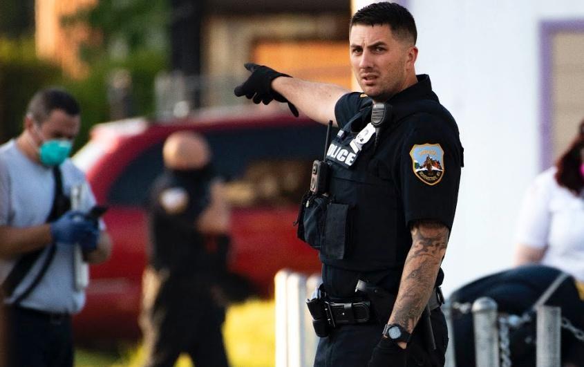 Police and paramedics on scene July 5