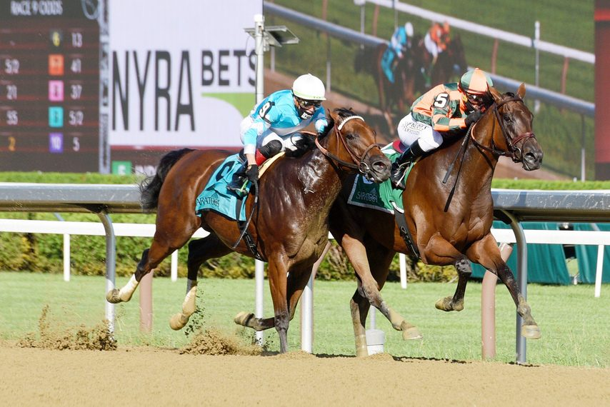 Indian Pride, write, outduels Blamed to win the Shine Again at Saratoga.