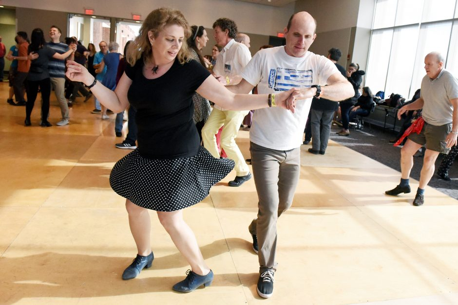 Bradford Kercull of Saratoga and Jennifer Emmons of Ballston Spa dance during last year's Flurry.