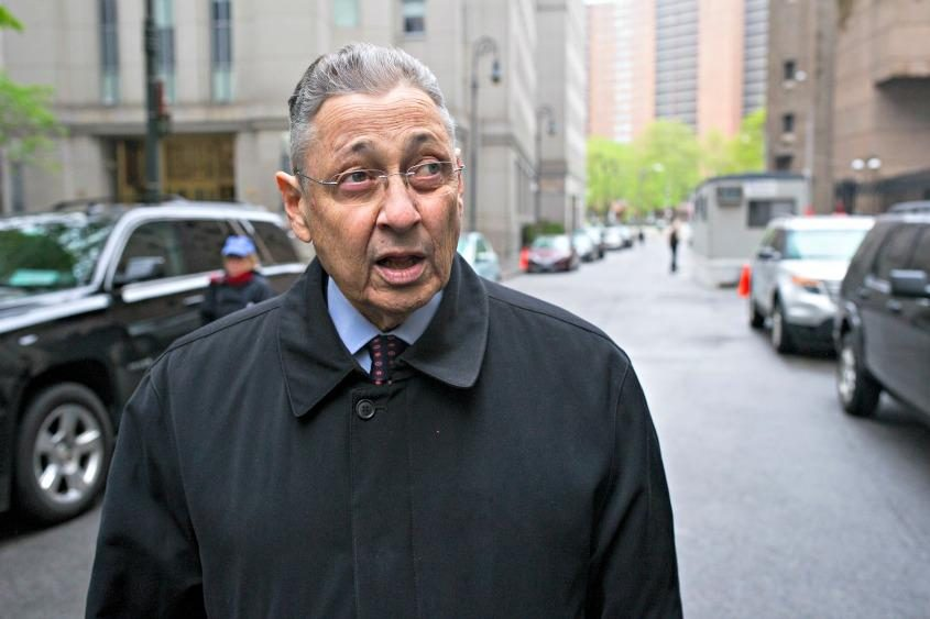 Sheldon Silver arrives at court for his sentencing in New York on May 3, 2016.