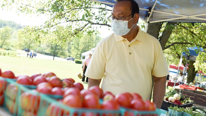 At the Niskayuna Farmer's Market Saturday