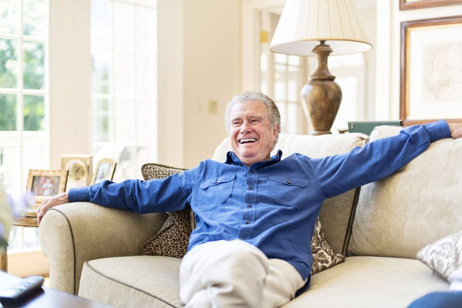 The talk show host Regis Philbin, at home in Greenwich, Conn., Aug. 2, 2013.