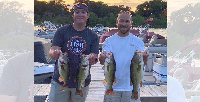Mike Croll and Heath Clayson of Ballston Lake won the weekly Saratoga Tackle bass tournament.