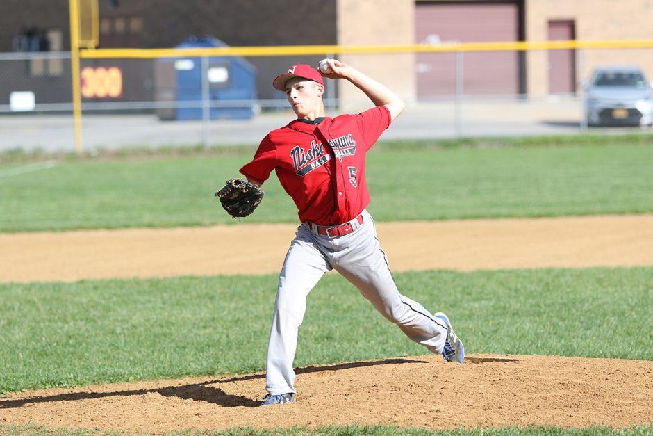 Niskayuna High School baseball player Sam Falace.