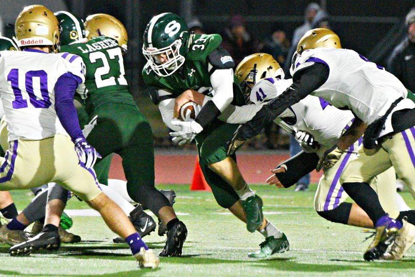 Shenendehowa's Jacob DiRienzo carries the ball during a Nov. 1 game against Christian Brother Academy.