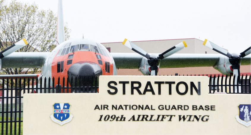 The Stratton Air National Guard Base 109th Airlift Wing in Scotia is seen earlier this year.