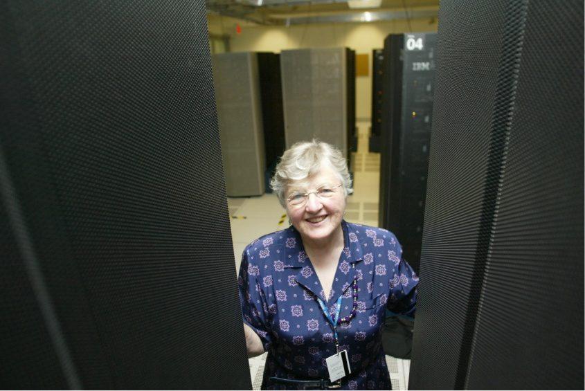 Frances Allen at an IBM office in Yorktown Heights, N.Y., July 23, 2002.