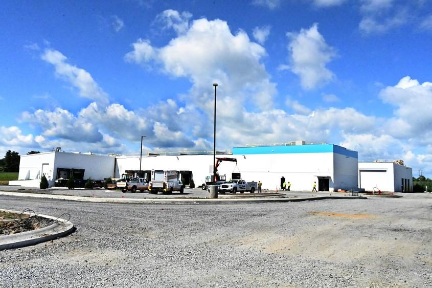 Amazon's future facility in the town of Florida is shown Tuesday.