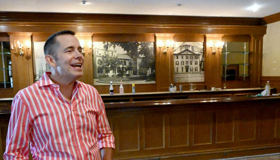Urban Initiatives Group, led by John Samatulski speaks to Sara Foss in the newly aquired Stockade Inn.