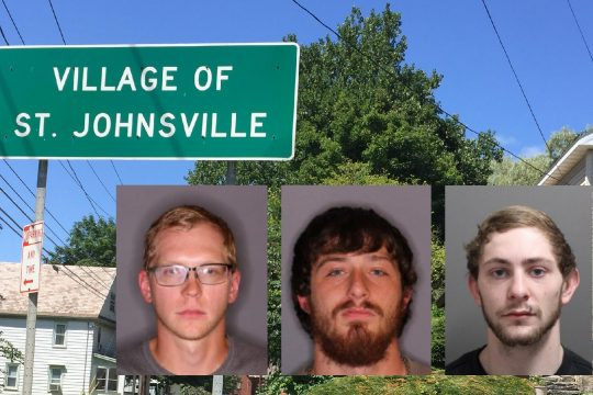 Left to right, Jamie M. Lambert, Casey L. Battisti and Michael A. Vogel;Montgomery County Sheriff (Insets); File (Background)
