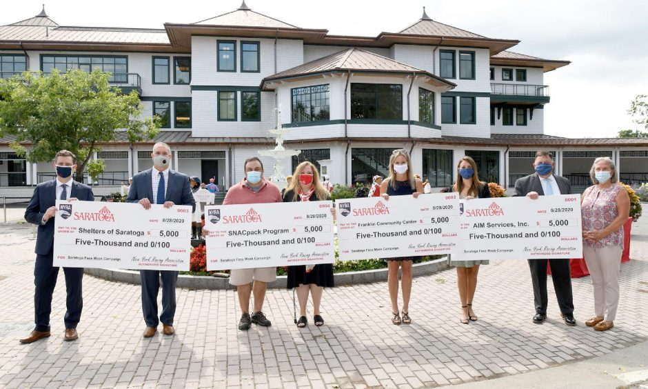 The New York Racing Association donated $20,000 to several local non-profit organizations on Friday.