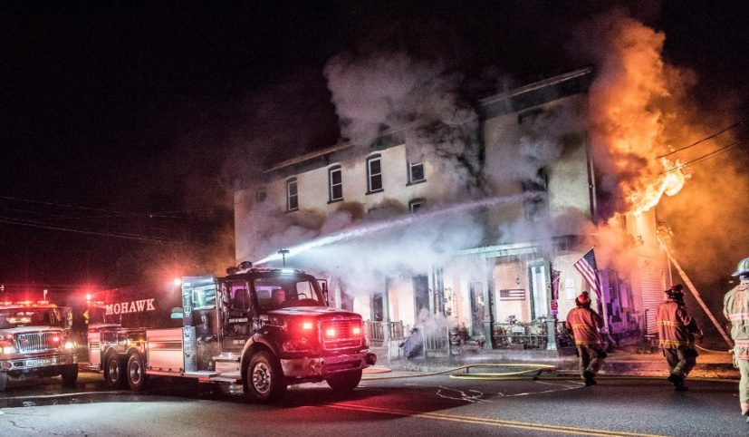 The scene Sunday night. Credit: Town of Mohawk Fire Department