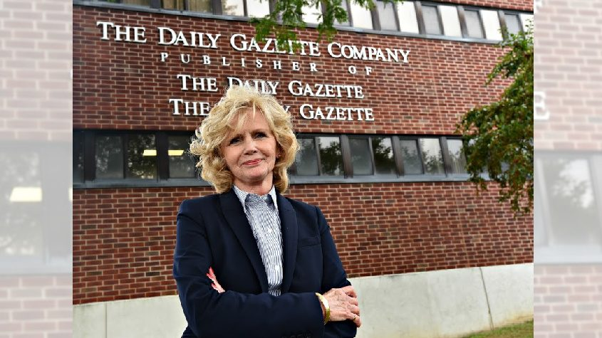 Deb Smith, The Daily Gazette automotive multimedia advertising rep. will retire after 47 years with the newspaper. Photo by Stan Hudy/Staff