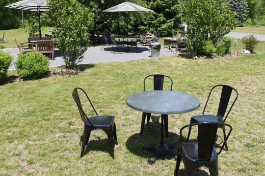 ERICA MILLER/STAFF PHOTOGRAPHER   Vischer Ferry General Store outdoor patio seating in June