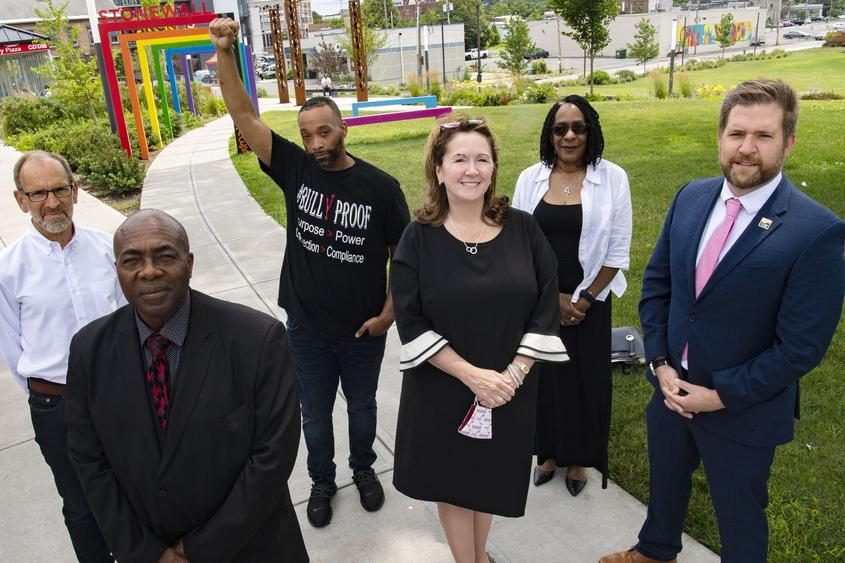 Members of the Capital Region Antiracism Training Initiative, first row, from left: Hayward Horton, Denise Murphy McGraw and Peter Gannon; second row, from left: David Olsen, Damonni Farley and Portia Alston