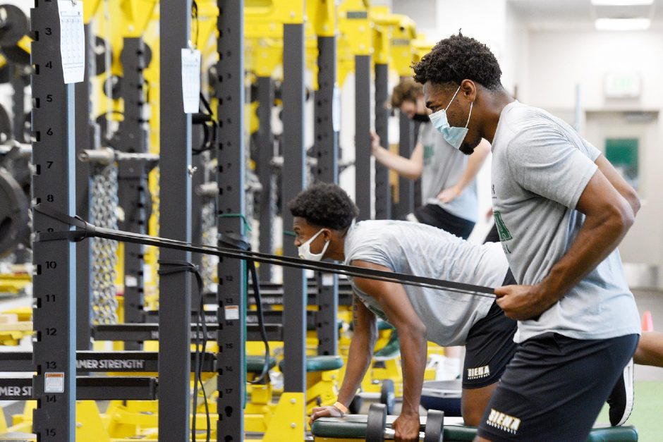 Siena basketball started preseason workouts Monday at the college.