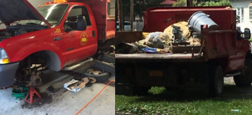 Photos of the truck. Credit: Village of Fonda