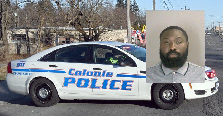 John Dzandza Credit: Colonie Police (inset); File Photo (Background)