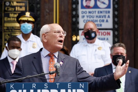 U.S. Rep. Paul Tonko, D-Amsterdam, speaks during a press conference in Albany on Aug. 7 calling for direct federal relief funding to local governments recovering from the coronavirus pandemic.
