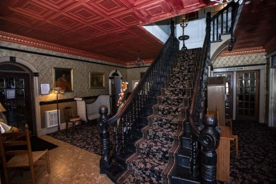 The main lobby of the Historic Hotel Broadalbin is shown in a Sept. 9  photo.