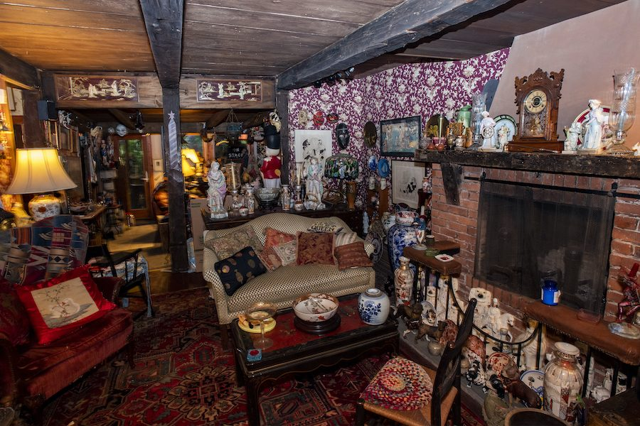 The living room of Joseph Fava's home, the historic John Peek House on North Ferry Street in the Stockade section of Schenectady.