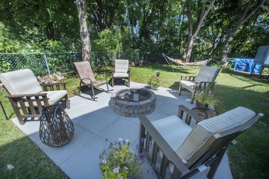 Backyard renovations by homeowner Rocco Ricchiuti on Skyline Drive in Latham on Friday, September 4, 2020.