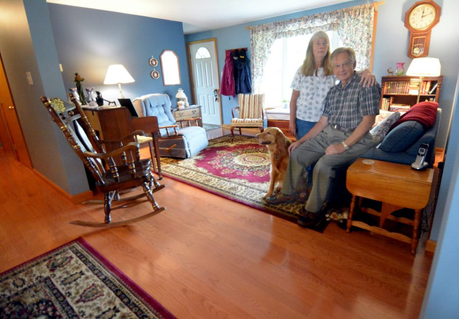 Hardwood flooring can be found throughout the recently renovated home of Terrence and Barbara O'Neill in Duanesburg.