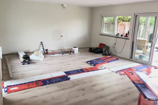 Joanne McFadden's childhood home in California undergoing renovations.