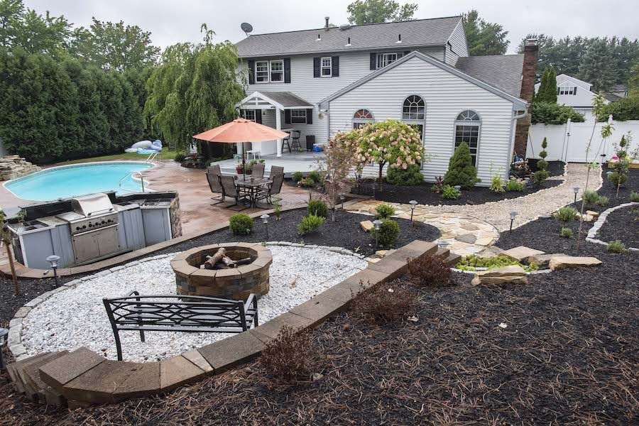 The backyard of Dr. Erin Crosby on Green Meadows Lane in Albany Thursday, September 10, 2020.