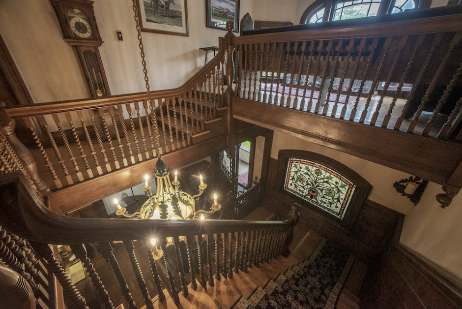 Staircases inside the bed-and-breakfast Saratoga Dreams, owned by Joanne Buyce and Cathy Catalano.