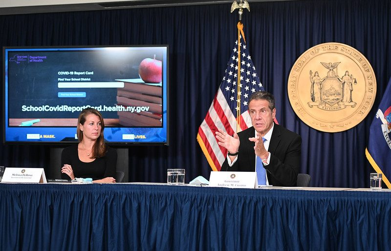Governor Andrew M. Cuomo holds his daily coronavirus briefing in New York City Thursday September 24, 2020. (Governor's Office)