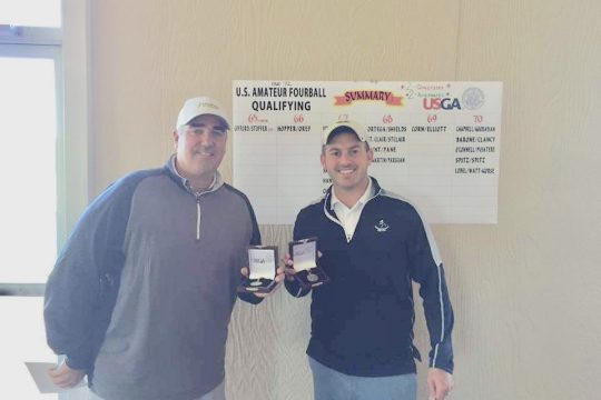 Photo providedJim Gifford, right, with partner Chad Stoffer after qualifying for U.S. Amateur Fourball.