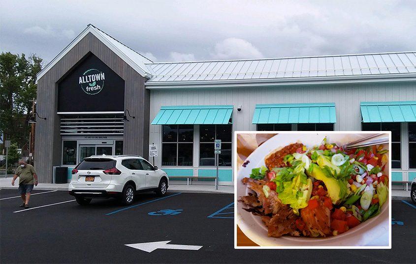 Alltown Fresh Convenience Market on Erie Boulevard in Schenectady. Inset: Alltown's Chula Vista Hot Bowl with pulled pork. (Beverly M. Elander)