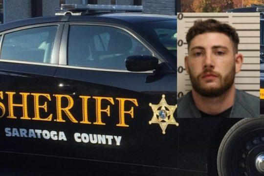 Tyler J. Gaston Credit: Saratoga County Sheriff's Office (Inset); File Photo (Background)