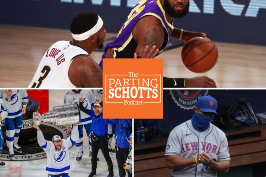 USA Today Sports file photosOn this edition of The Parting Schotts Podcast, Ken Schott is joined by ESPN Radio's Marc Kestecher (NBA Finals), the Tampa Bay Times' Diana Nearhos (Stanley Cup Final) and Newsday's Tim Healey (Mets).