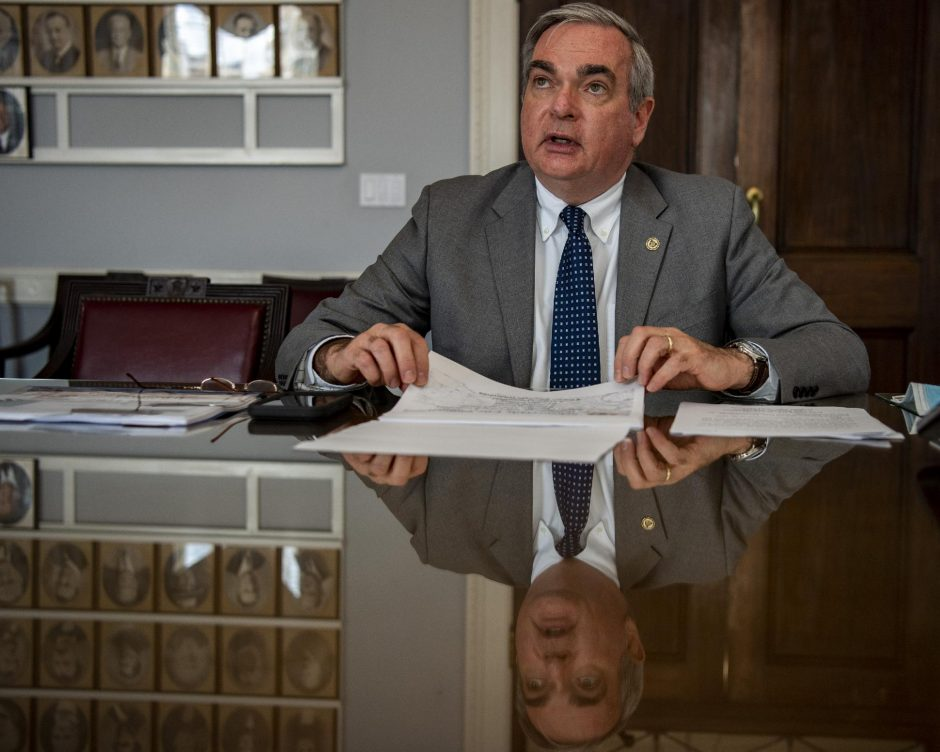 Schenectady Mayor Gary McCarthy announceshisproposed 2021 budget during a web cast at City Hall on Thursday.