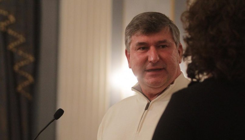 Ed Kosiur at a City Council meeting in Schenectady in February 2014.