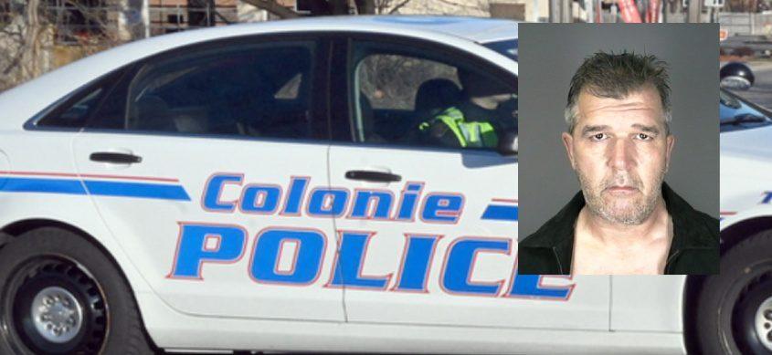 Wayne M. Rhodes. Credit: Inset, Colonie Police; Background, File