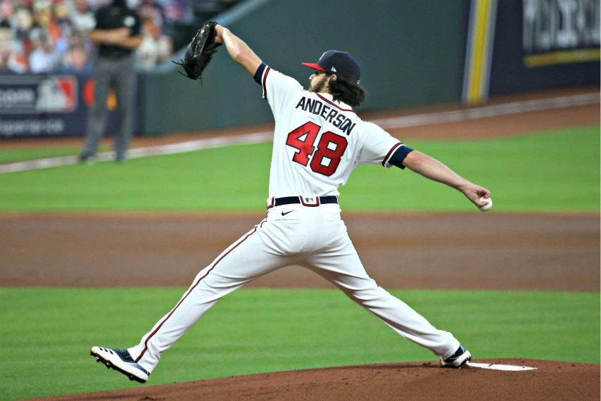 Ian Anderson will start Game 2 of the NLCS. (Thomas Shea/USA Today Sports)