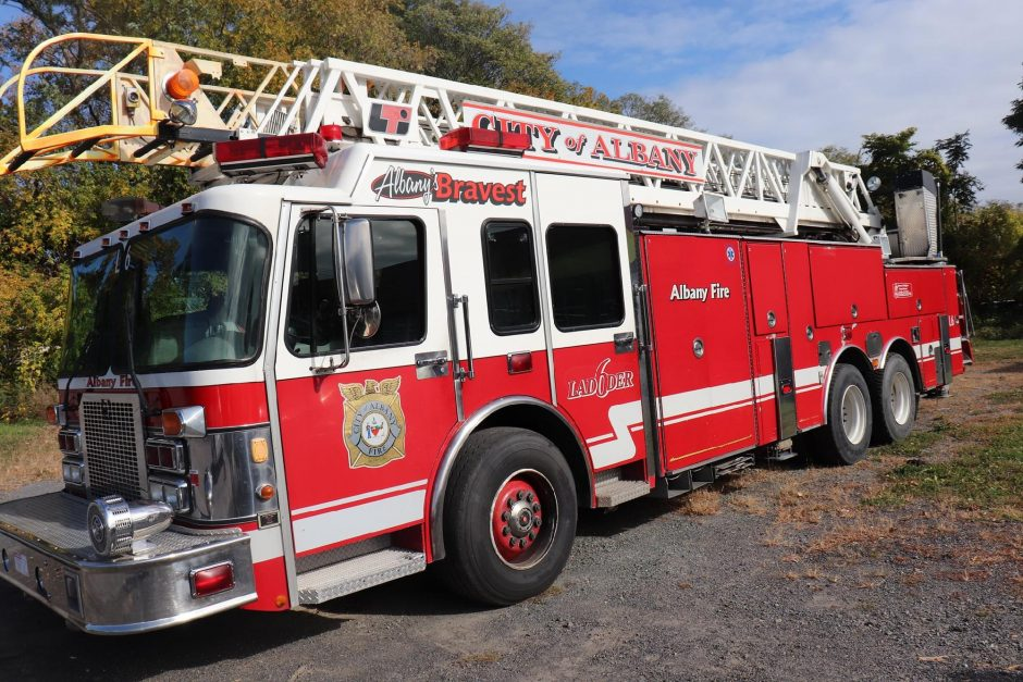 A photo of the fire truck taken. Credit: Colonie Police