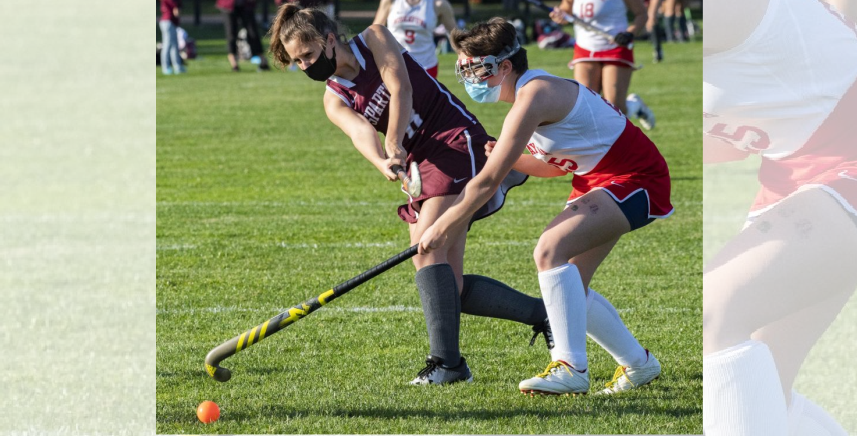 Burnt Hills-Ballston Lake's Jocelyn Hild takes a shot past Niskayuna's Carrie Watkins during Wednesday's Suburban Council field hockey game. Credit:PETER R. BARBER/STAFF PHOTOGRAPHER